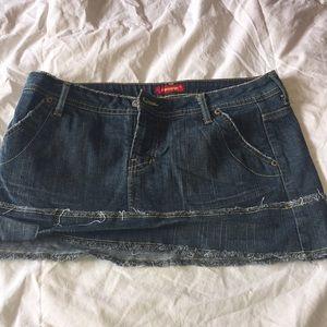 Blue Asphalt short skirt